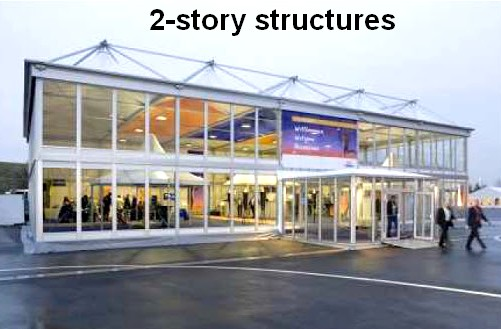 2-story temporary buildings