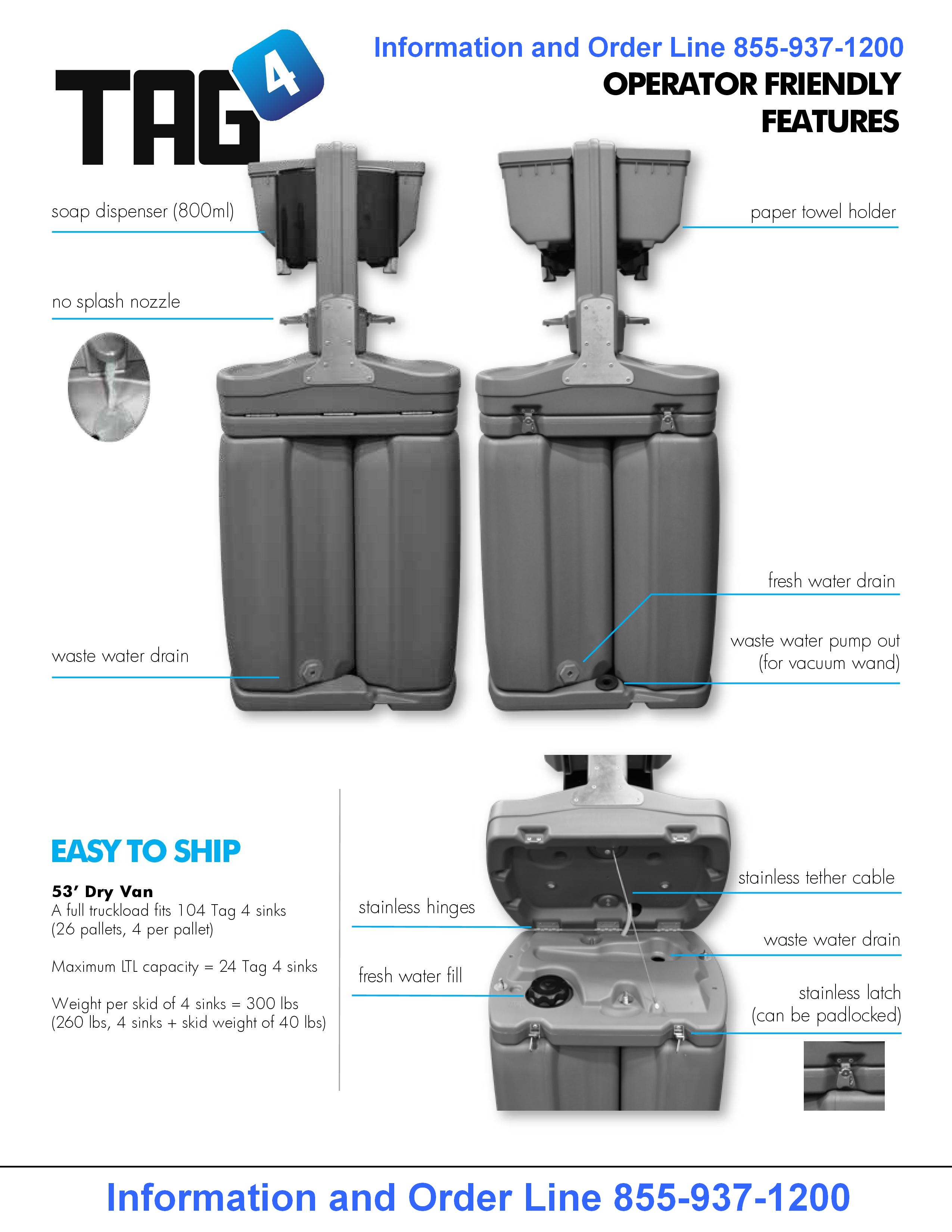 Tag 4 Hand Wash Station Specs part 2
