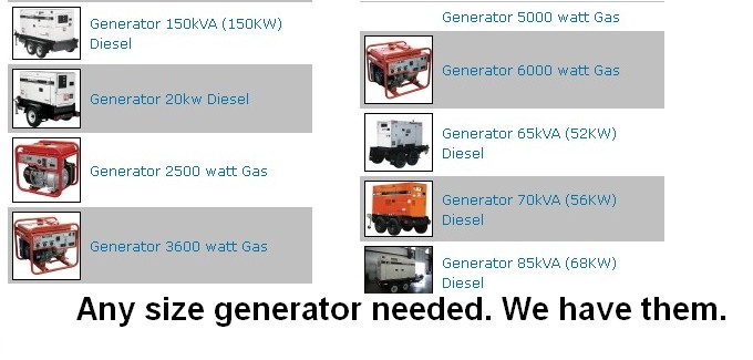 Large Portable Generators