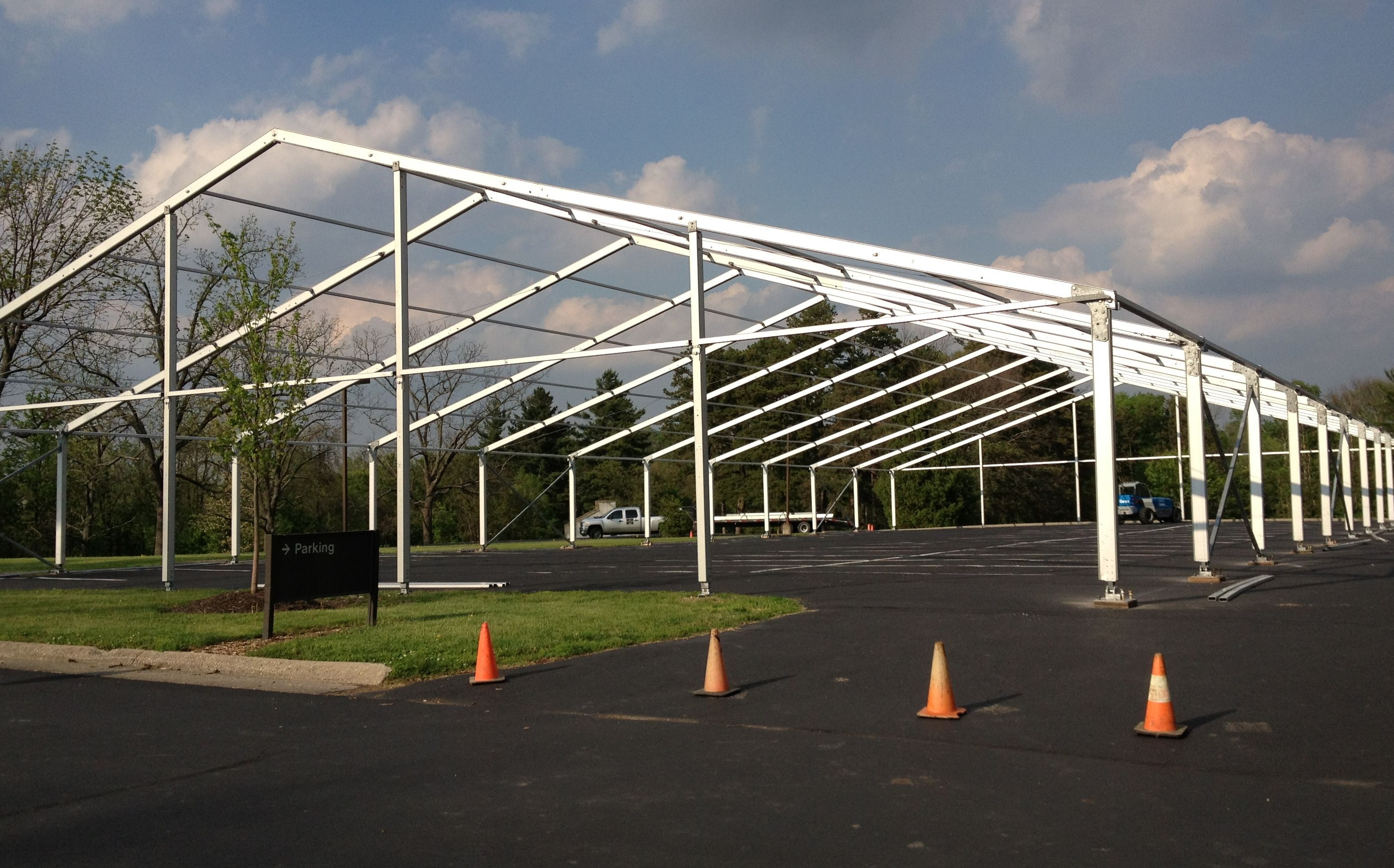 Clearspan Tents with heat, air conditioning and sides