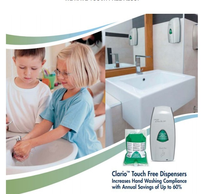 Touch Free Foaming CDC Grade Alcohol Hand Sanitizer Dispensers