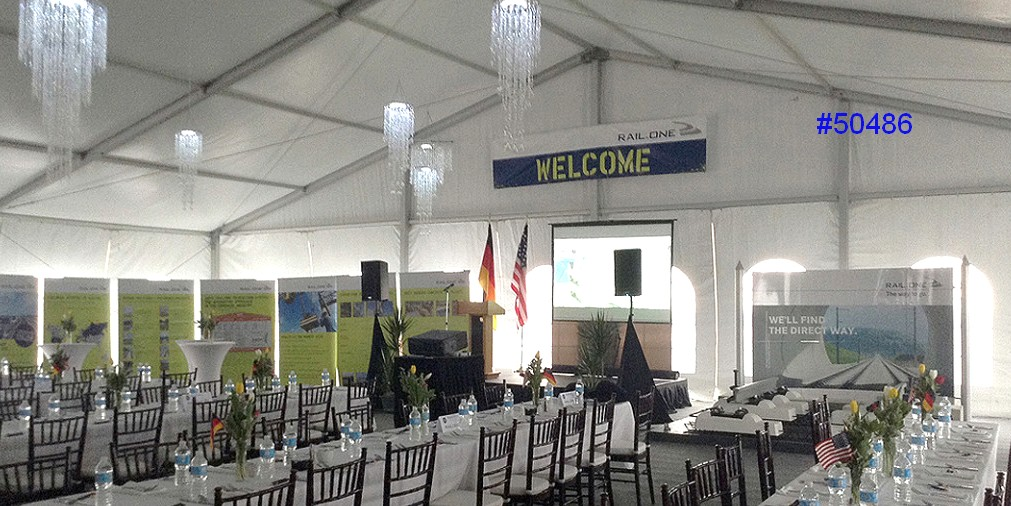 large clearspan tent structure rental